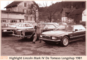 1981 Highlight Lincoln Marc IV De Tomaso Longshap